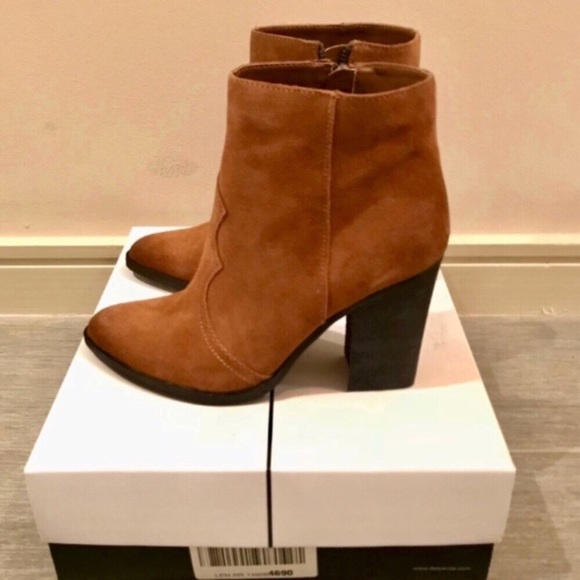 0445a5d00f0 🚨 Dolce Vita Suede Pointed Tie Ankle Boots NWT